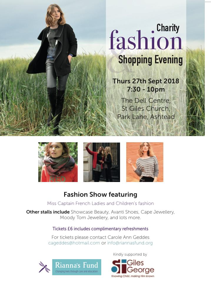 charity fashion and shopping event